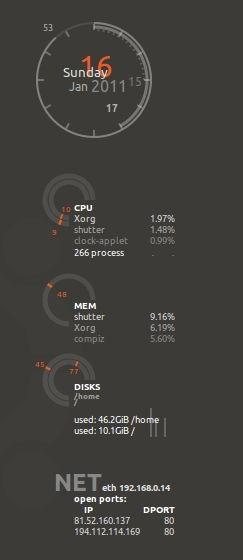 Monitor linux conky esempio 04